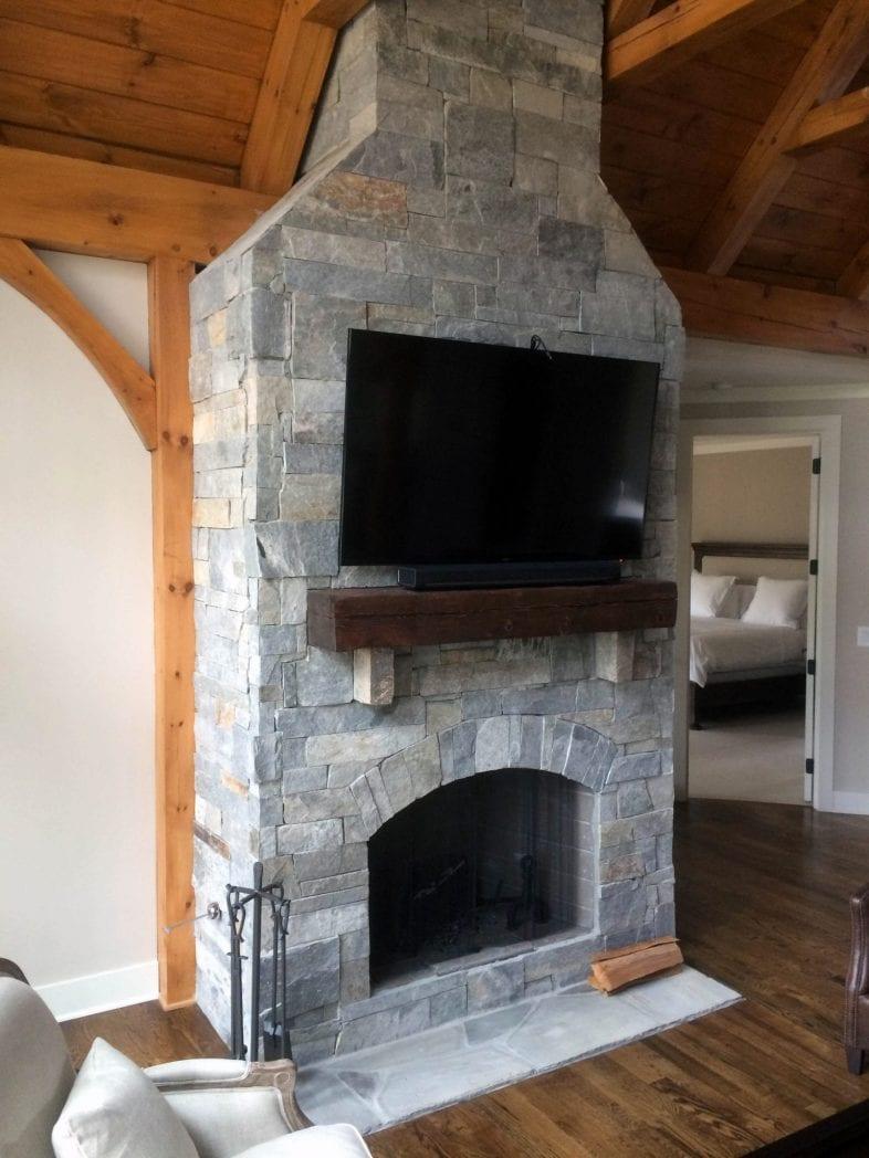 Hampton Real Stone Veneer Interior Fireplace