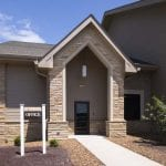 Laramie Natural Stone Veneer Commercial Entry