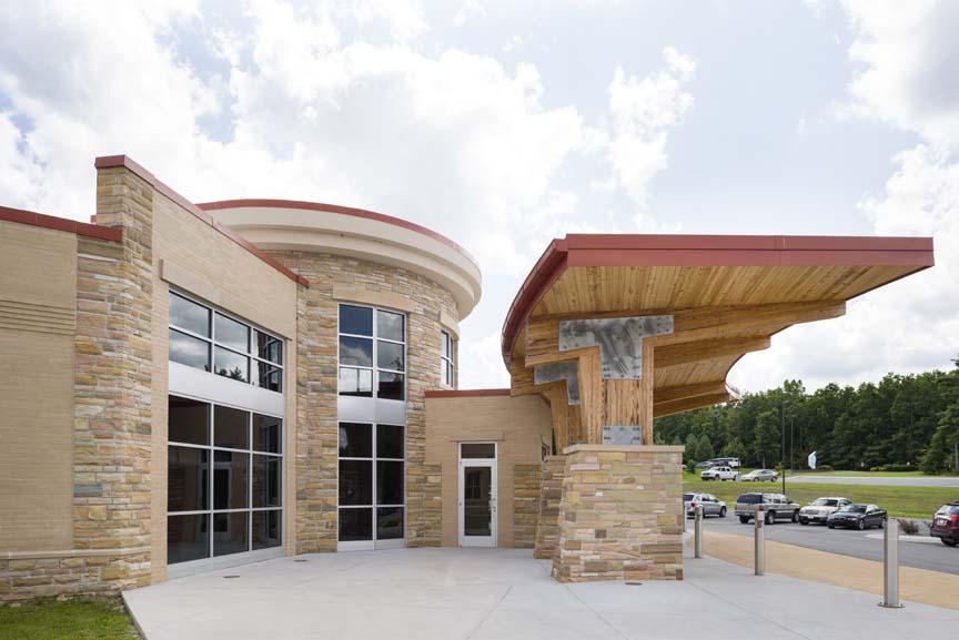 Laramie Natural Stone Veneer Commercial Exterior