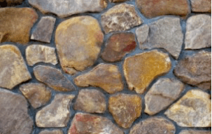 Cobblestone Veneer on Wall