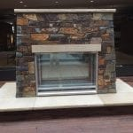 Montana Natural Thin Stone Veneer Interior Fireplace