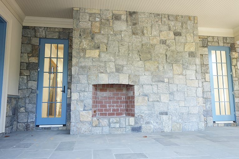 Williamsburg Natural Stone Veneer Fireplace