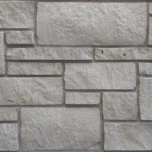 Alpine White Dimensional Natural Thin Stone Veneer