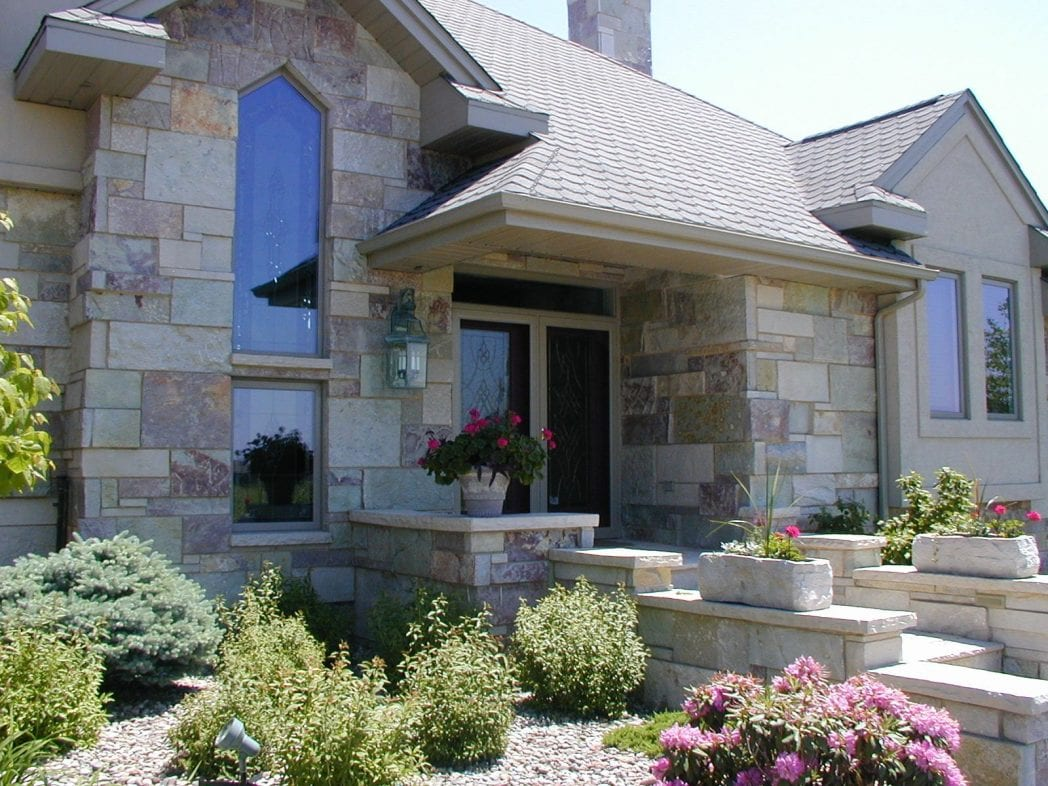Ambrose Natural Thin Stone Veneer Residential Exterior