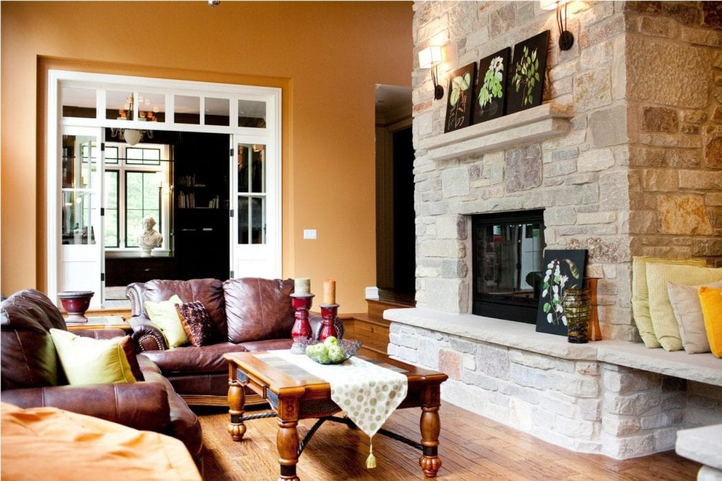 Sheridan Natural Thin Stone Veneer Fireplace