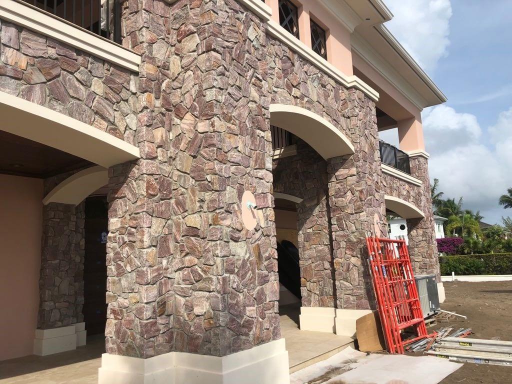 Bordeaux Thin Stone Veneer Residential Exterior