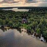 Cranberry Castle Drone Twilight Shot