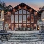 Custom Architectural Home with Natural Stone Cranberry Castle