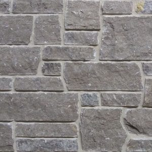 Lenexa Dark Dimensional Real Quarried Stone Veneer