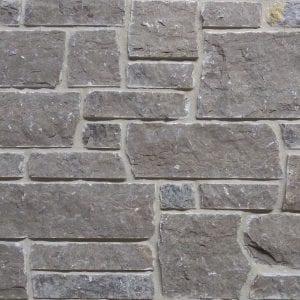 Lenexa Dark Dimensional Real Quarried Stone Veneer