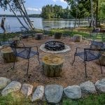 Natural Limestone and Granite Firepit