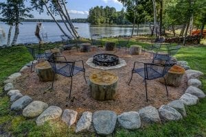 Natural Limestone and Granite Firepit