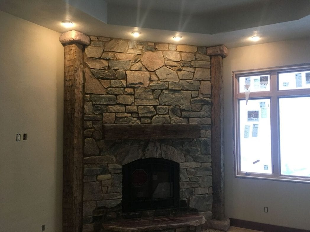 Appleton Natural Stone Veneer Interior Fireplace