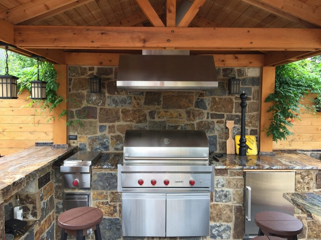 Denali Real Stone Veneer Outdoor Kitchen