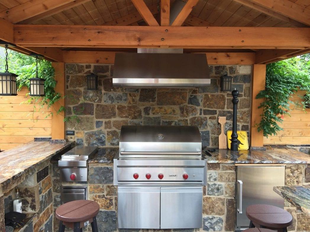 Denali Real Stone Veneer Outdoor Kitchen