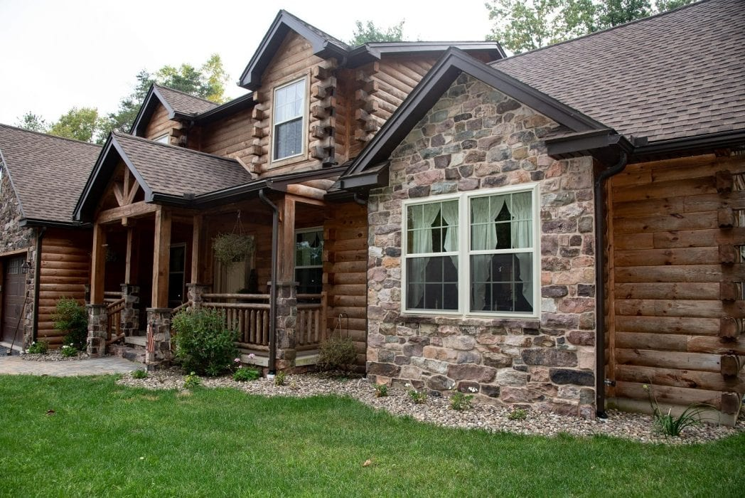 Langston Natural Thin Stone Veneer Residential Exterior