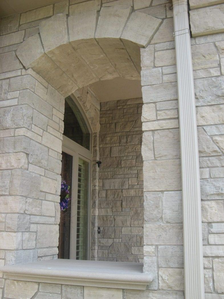 Lockridge Natural Stone Veneer Masonry Entry