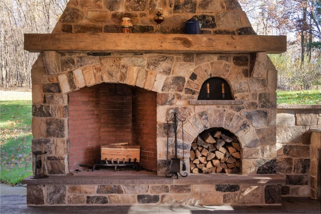London Natural Stone Veneer Fireplace