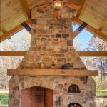 London Natural Thin Stone Veneer Fireplace