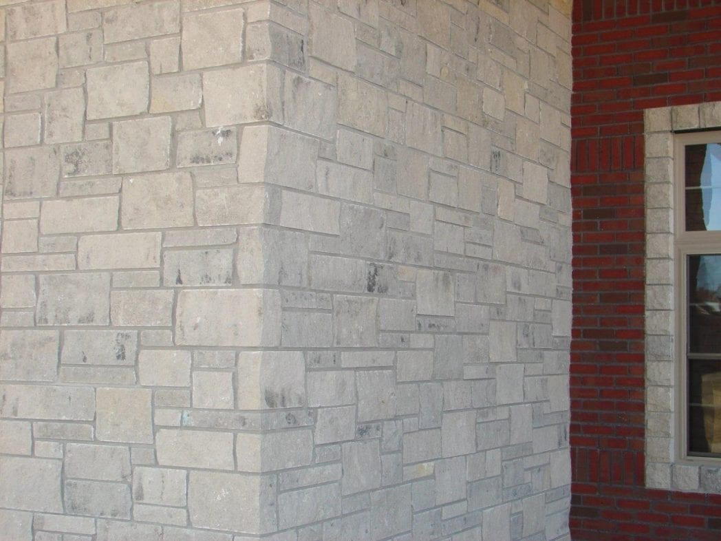 Silver Cloud Natural Stone Veneer Exterior Masonry