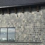 Custom Blackfriars natural stone veneer with all large rectangles