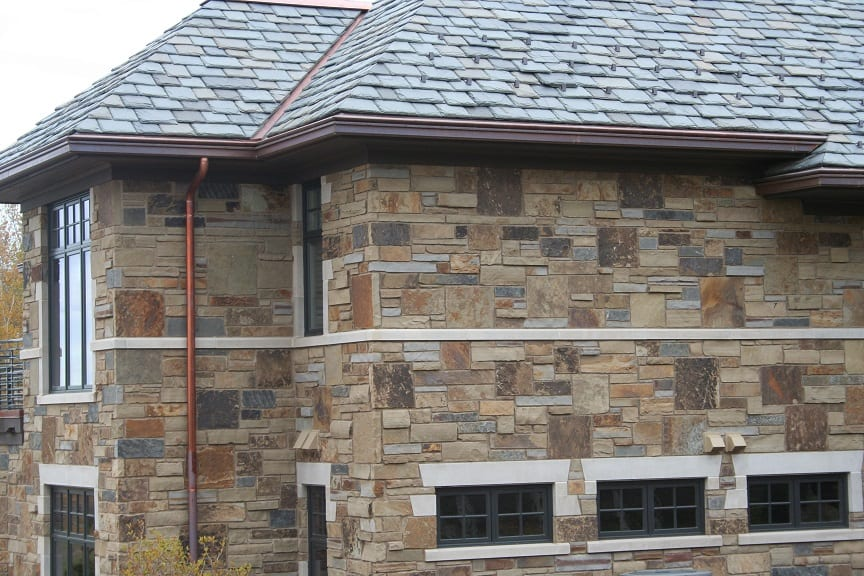 Custom Blend of Kodiak, Mojave and Charcoal Canyon Real Stone Veneer