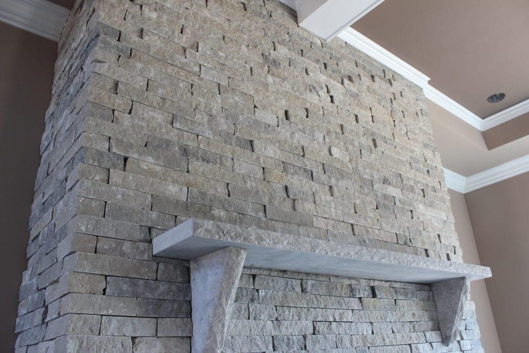 Silver Cloud Custom Ledgestone Style Natural Thin Stone Veneer