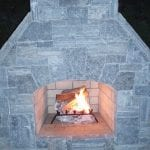 Ellsworth Real Stone Veneer Fireplace