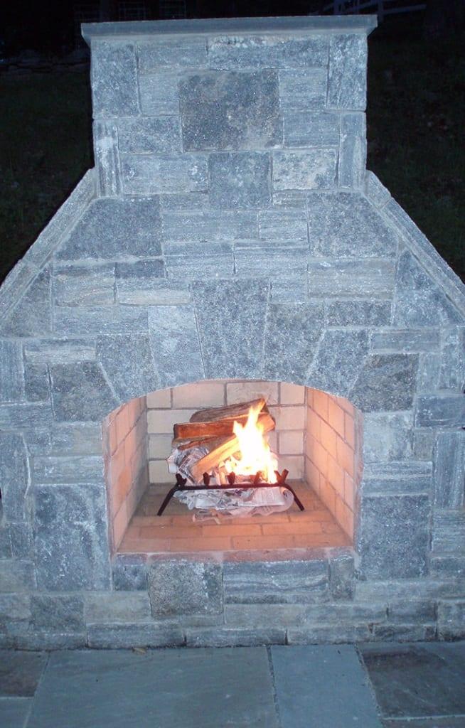 Ellsworth Real Stone Veneer Fireplace
