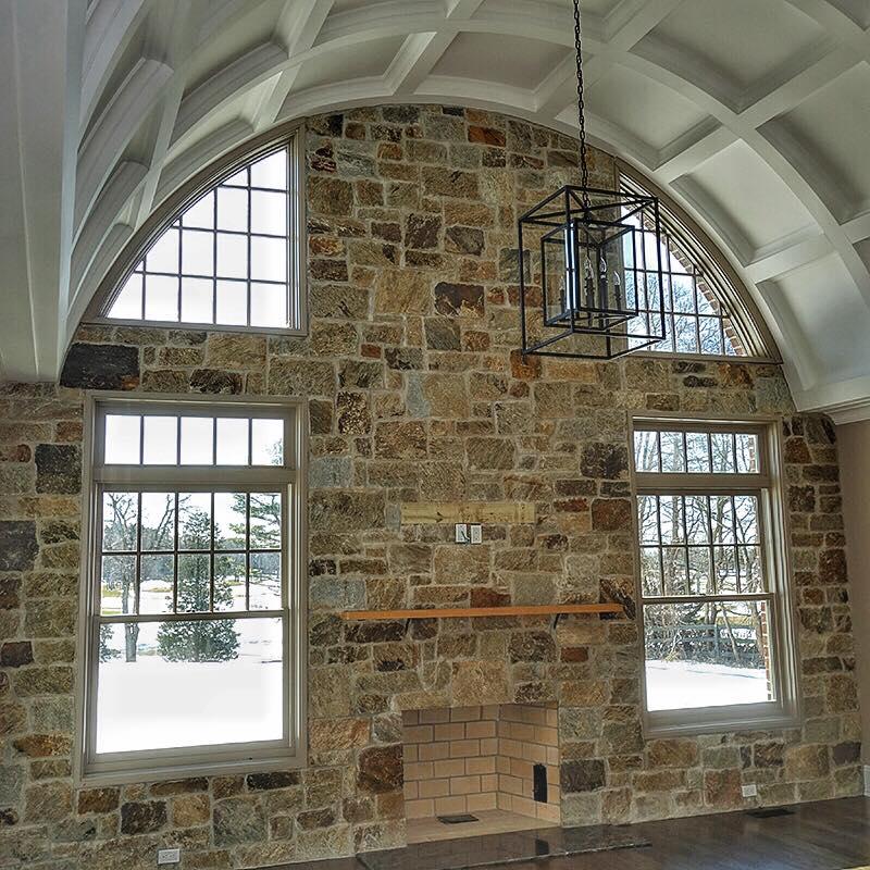 Portland Natural Stone Veneer Interior Masonry