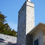 Williamsburg Exterior Chimney Real Stone Veneer Application