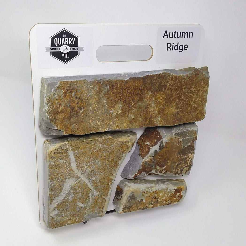Autumn Ridge Natural Stone Veneer Sample Board