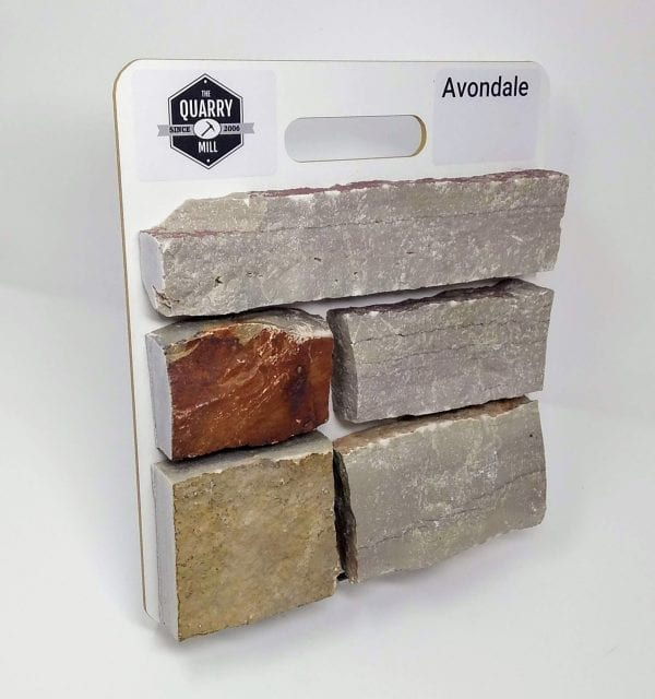 Avondale Natural Stone Veneer Sample Board