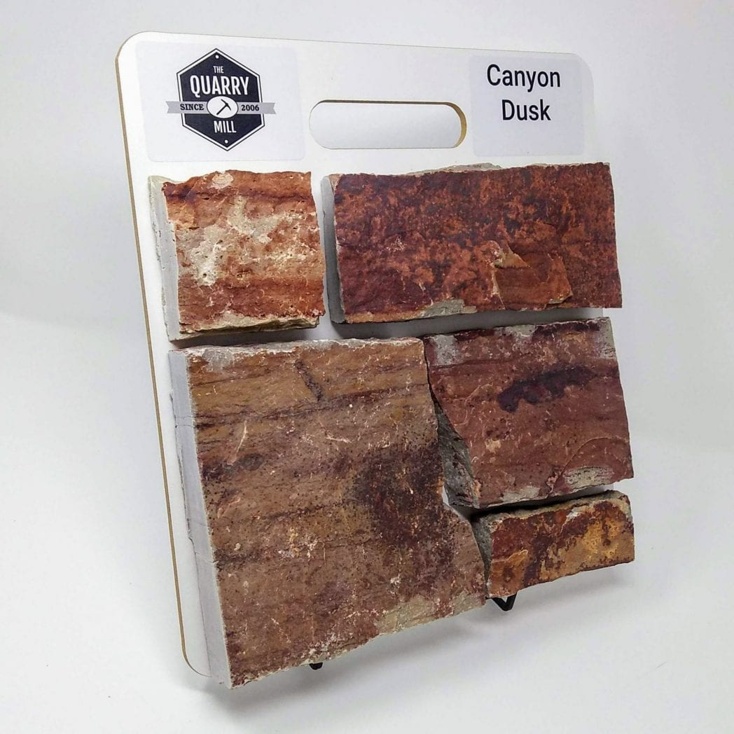 Canyon Dusk Natural Stone Veneer Sample Board