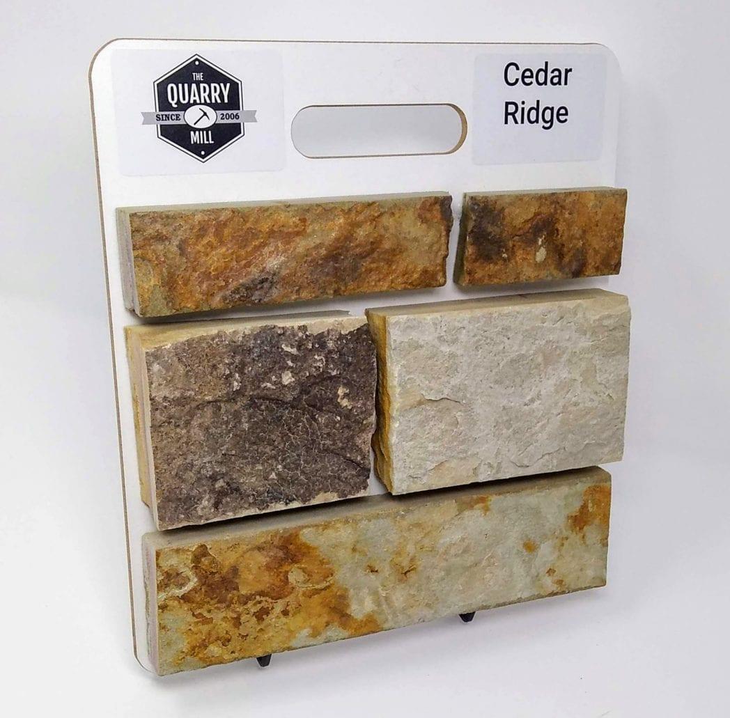 Cedar Ridge Natural Stone Veneer Sample Board