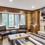 Charcoal Canyon Thin Stone Veneer Interior Fireplace