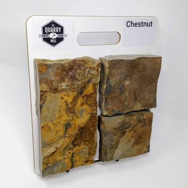 Chestnut Natural Stone Veneer Sample Board