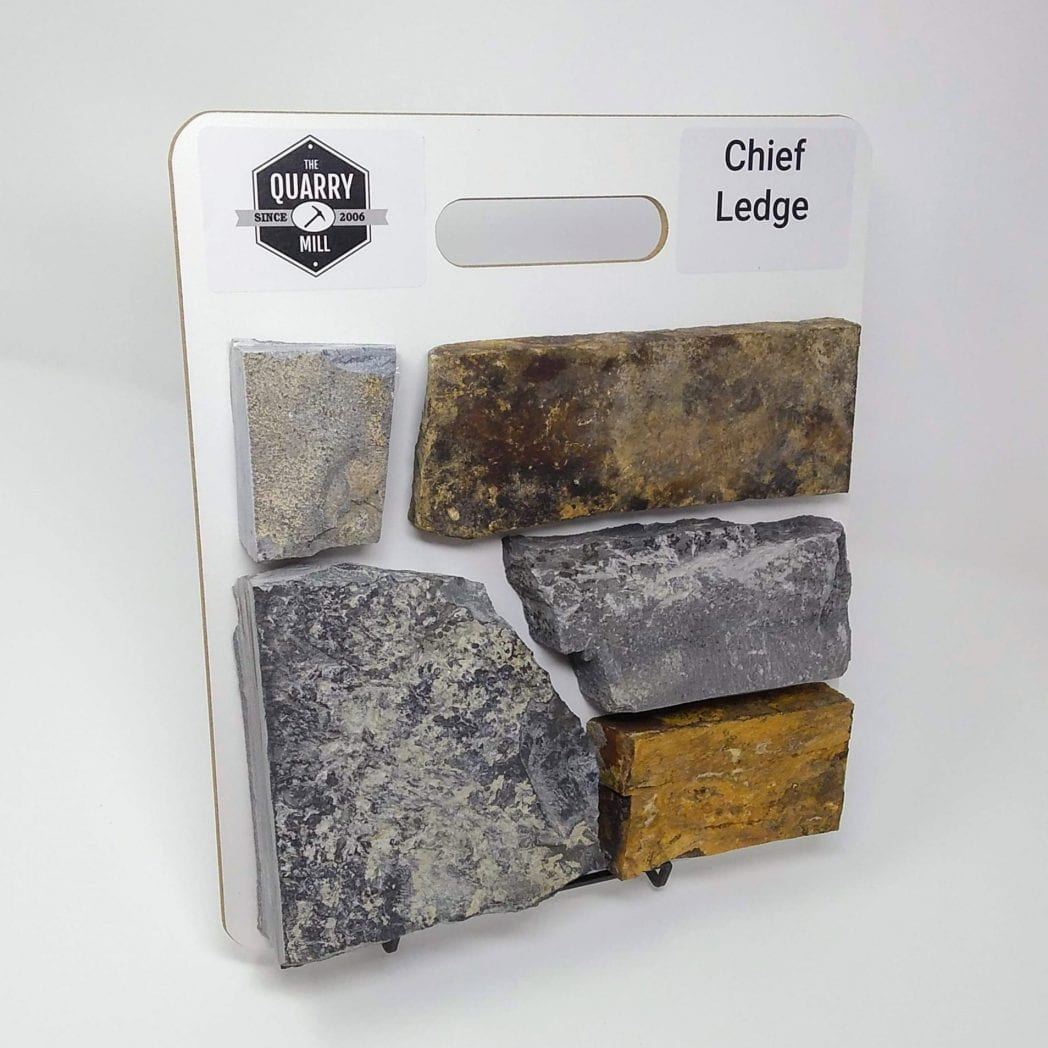 Chief Ledge Natural Stone Veneer Sample Board