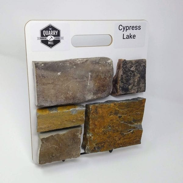 Cypress Lake Natural Stone Veneer Sample Board