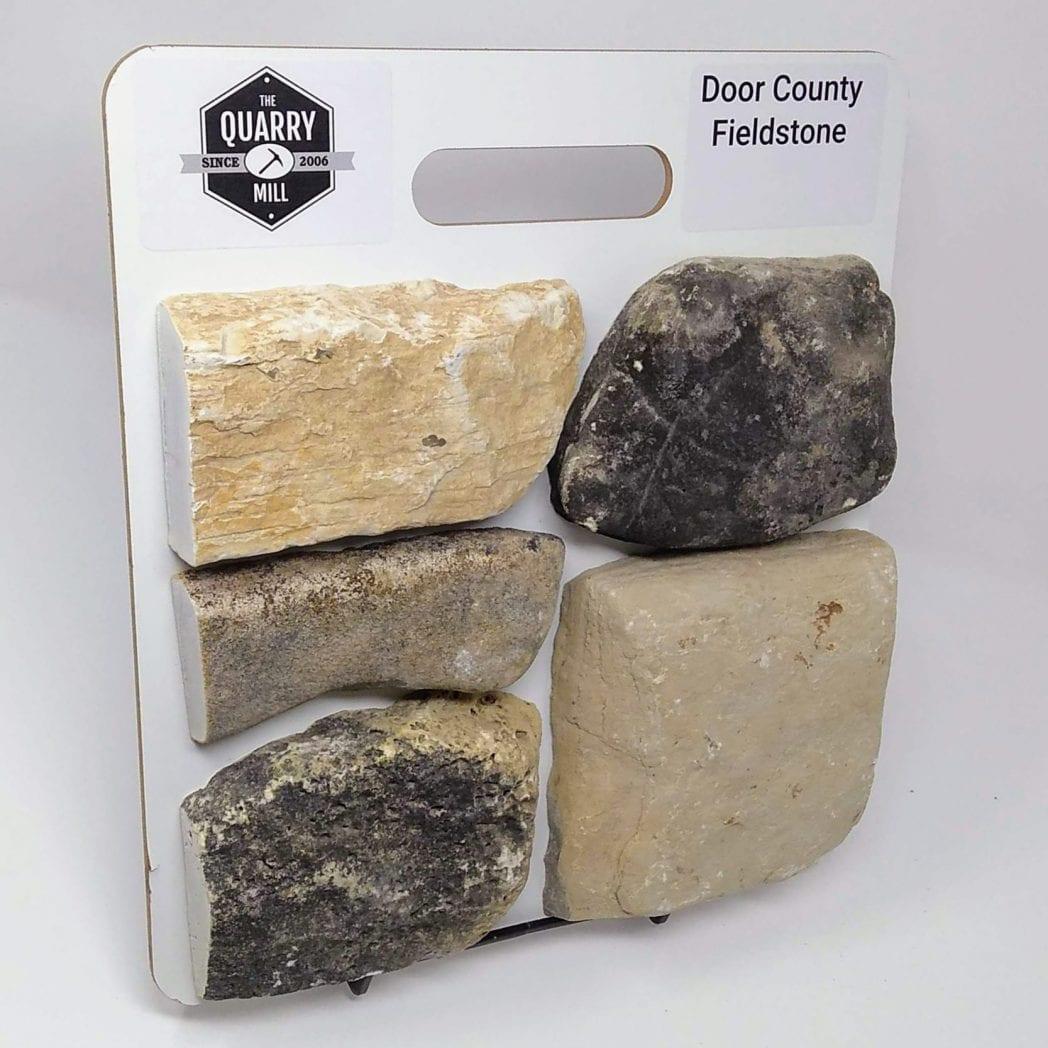 Door County Fieldstone Natural Stone Veneer Sample Board