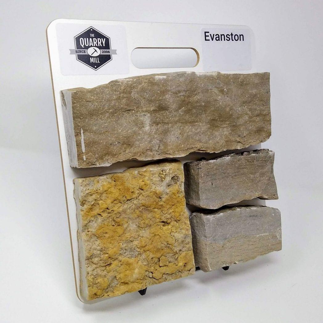 Evanston Natural Stone Veneer Sample Board