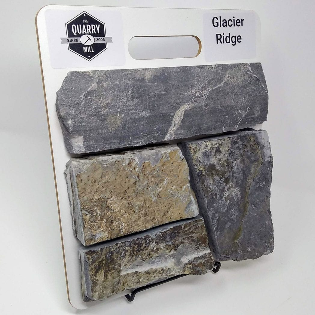 Glacier Ridge Natural Stone Veneer Sample Board