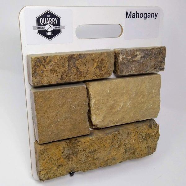 Mahogany Natural Stone Veneer Sample Board