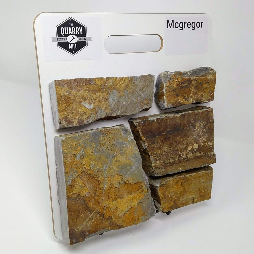 McGregor Natural Stone Veneer Sample Board