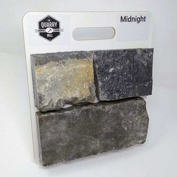 Midnight Natural Stone Veneer Sample Board
