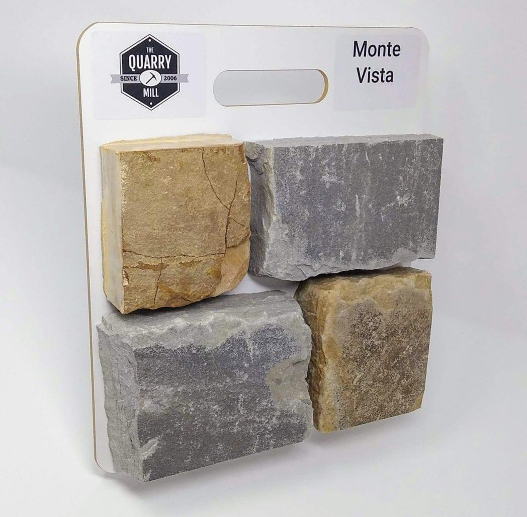 Monte Vista Natural Stone Veneer Sample Board