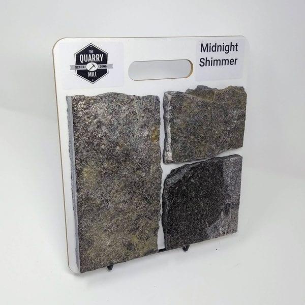 Midnight Shimmer Natural Stone Veneer Sample Board