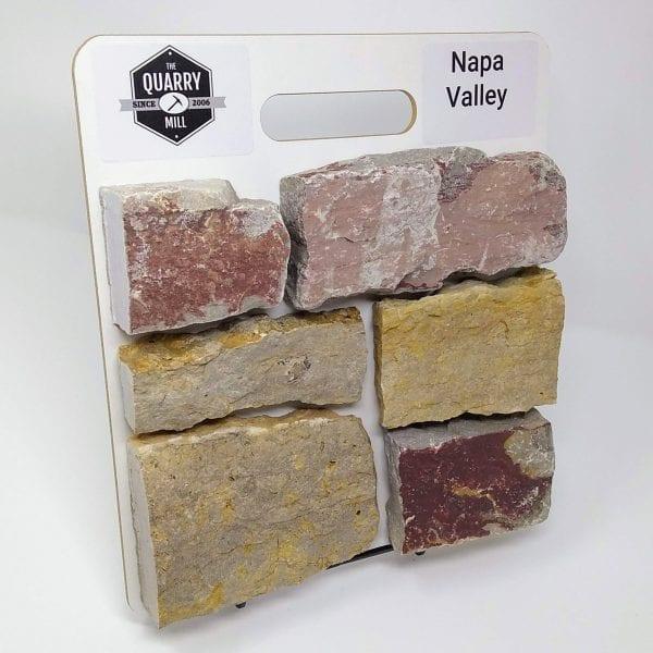 Napa Valley Natural Stone Veneer Sample Board