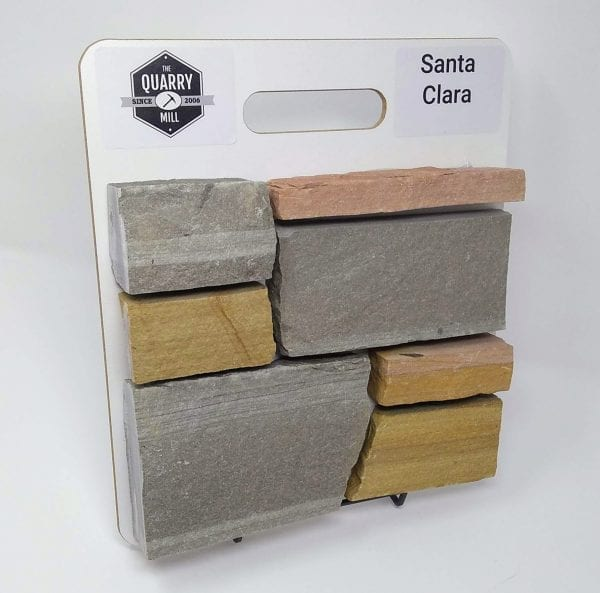 Santa Clara Natural Stone Veneer Sample Board