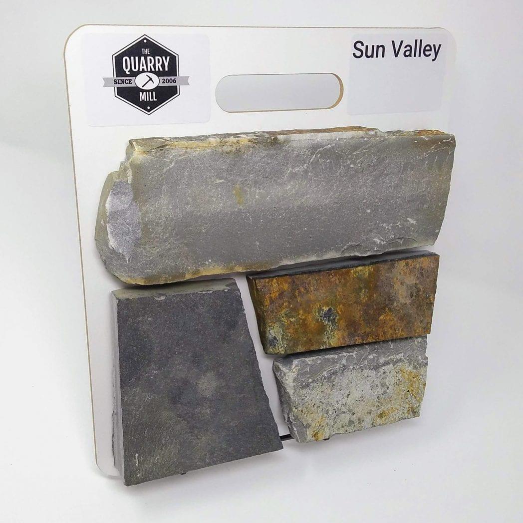 Sun Valley Natural Stone Veneer Sample Board